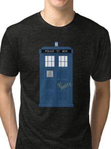 Wholock TARDIS t-shirt Tri-blend T-Shirt