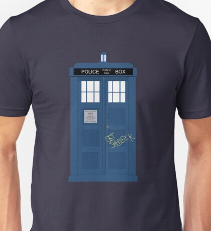 Wholock TARDIS t-shirt Unisex T-Shirt
