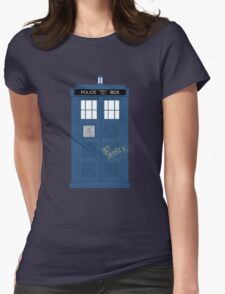 Wholock TARDIS t-shirt Womens Fitted T-Shirt