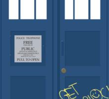 Wholock TARDIS t-shirt Sticker