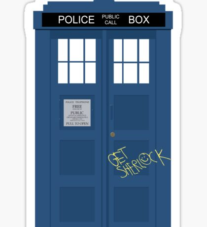 Wholock TARDIS t-shirt Sticker