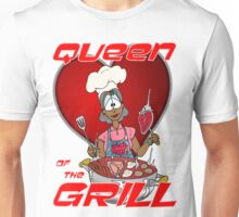 Queen of the Grill Black Unisex T-Shirt