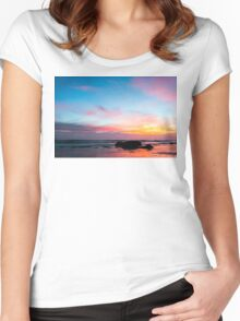 Sunset Handry's Beach Women's Fitted Scoop T-Shirt