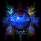 Abstract Blue Globe by Henrik Lehnerer