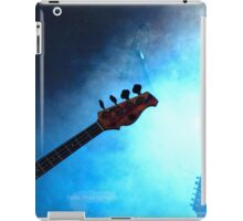 Guitar in blue lights and smoke iPad Case/Skin