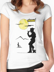 Cowboy Saloon Women's Fitted Scoop T-Shirt