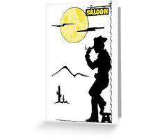 Cowboy Saloon Greeting Card