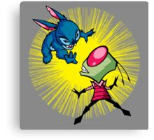Invader Stitch! Canvas Print