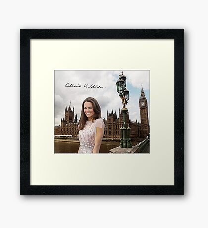 Kate Middleton and the Houses of Parliament Framed Print