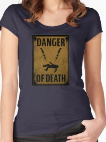 Danger of Death Women's Fitted Scoop T-Shirt