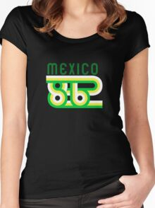 Retro Mexico '86 vintage soccer shirt Women's Fitted Scoop T-Shirt
