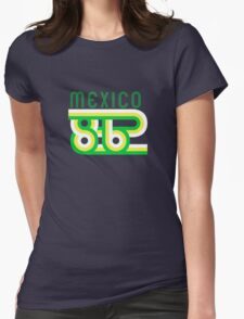 Retro Mexico '86 vintage soccer shirt Womens Fitted T-Shirt