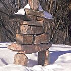 Inuksuk in the Snow by Shulie1