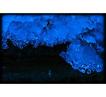 Crazy Blue Ice 1 Photographic Print