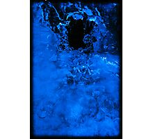 Crazy Blue Ice 2 Photographic Print