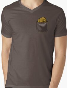 Pocket Helix Mens V-Neck T-Shirt