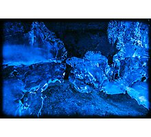Crazy Blue Ice 3 Photographic Print