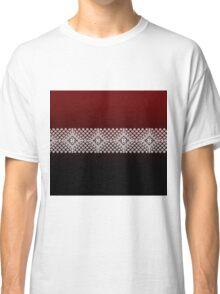 Red Black and White Latvian Lielvarde Belt motif Classic T-Shirt