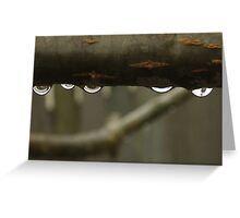Water pours on Earth as rain. Greeting Card