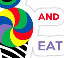 Keep Calm and Eat Ice Cream 2.2 Sticker