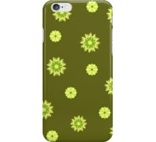 Green floral pattern iPhone Case/Skin