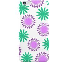 Green purple floral pattern iPhone Case/Skin
