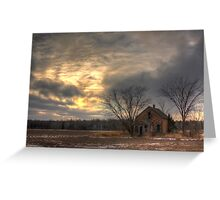 Lonely House-Landscape Greeting Card