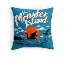 Monster Island Throw Pillow