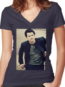 Misha Women's Fitted V-Neck T-Shirt