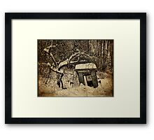 A Tree and its Shack Framed Print