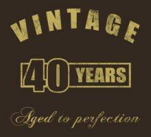 Vintage 40th Birthday T-Shirt by thepixelgarden