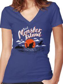 Monster Island Women's Fitted V-Neck T-Shirt