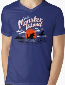 Monster Island Mens V-Neck T-Shirt