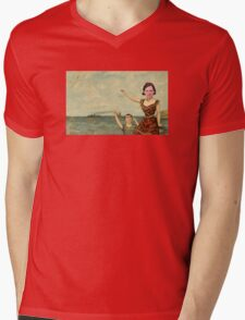 Neutral Milk Hotel - Jeff Mangum on In the Aeroplane Over the Sea Cover Mens V-Neck T-Shirt