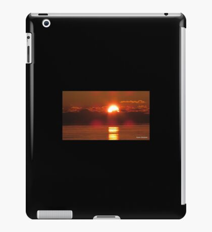 Sunrise in Sheboygan Wisconsin 2-3-2014 iPad Case/Skin