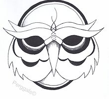 Owl face design by Perggals© - Stacey Turner
