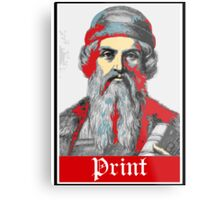 PRINT Gutenberg Metal Print