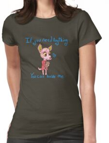 Crossinglock:  Molly the Deer Womens Fitted T-Shirt