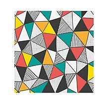 Triangles background Photographic Print