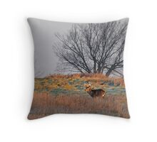 Painted Hill - White-tailed deer Throw Pillow