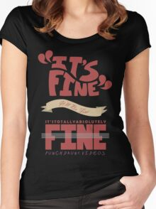 Caitlin - It's Fine Women's Fitted Scoop T-Shirt