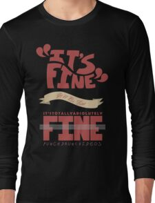 Caitlin - It's Fine Long Sleeve T-Shirt