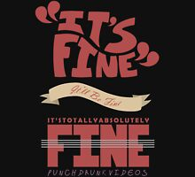 Caitlin - It's Fine Womens Fitted T-Shirt