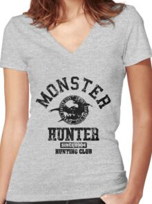 Monster Hunter Hunting Club Women's Fitted V-Neck T-Shirt