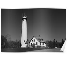 Lighthouse - Presque Isle, Michigan Poster