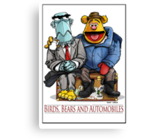 Birds, Bears and Automobiles Canvas Print