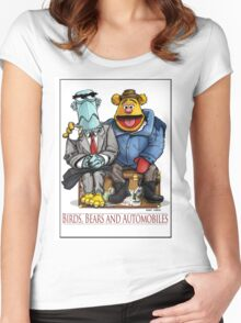 Birds, Bears and Automobiles Women's Fitted Scoop T-Shirt