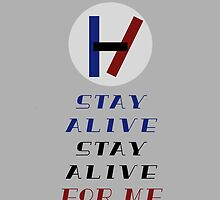 Stay Alive Phone Case by brandonhass