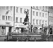 Mercury Fountain and Bicycle Photographic Print