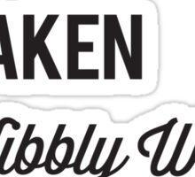 SINGLE TAKEN WIBBLY WOBBLY TIMEY WIMEY Sticker